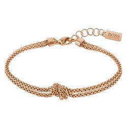 BOSS Ladies Rosette Carnation Gold Bracelet