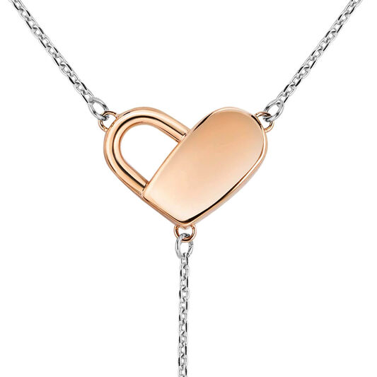 BOSS Ladies Soulmate Heart Padlock Necklace