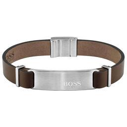 BOSS Men's Urbanite Brown Leather Bracelet