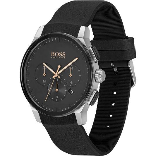 BOSS Men's Peak Black Silicone Watch