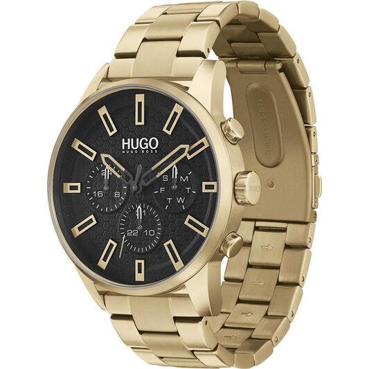 HUGO Men's #Seek Gold Plated Watch