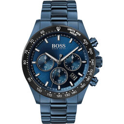 BOSS Men's Hero Blue Plated Watch