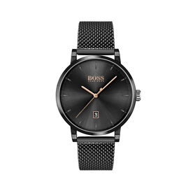 BOSS Men's Confidence Black Plated Watch