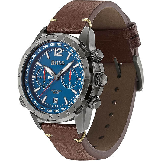 BOSS Men's Nomad Brown Leather Watch
