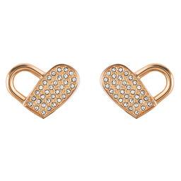 BOSS Ladies Soulmate Carnation Gold Heart Earrings