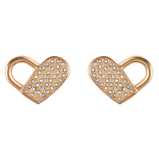 BOSS Ladies Soulmate Carnation Gold Heart Earrings