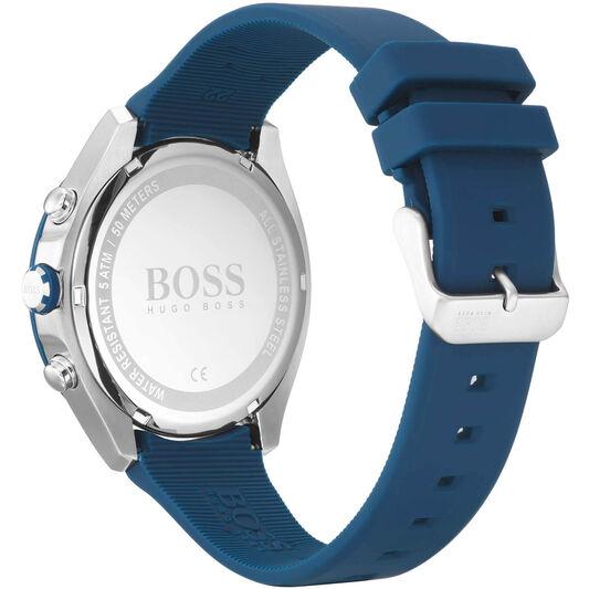 BOSS Men's Velocity Blue Silicone Watch