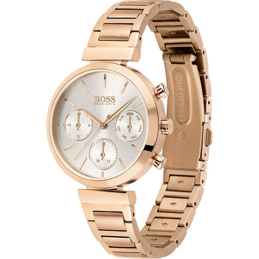 BOSS Ladies Flawless Carnation Gold Plated Watch