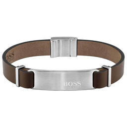 BOSS Men's Urbanite Brown Leather Bracelet