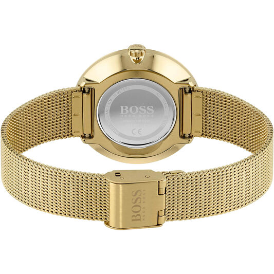BOSS Ladies Praise Gold Plated Watch
