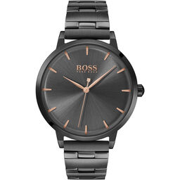BOSS Ladies Marina Grey Plated Watch
