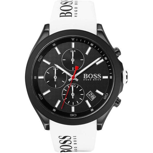 BOSS Men's Velocity White Silicone Watch