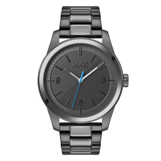 HUGO Men's #CREATE Grey Plated Watch