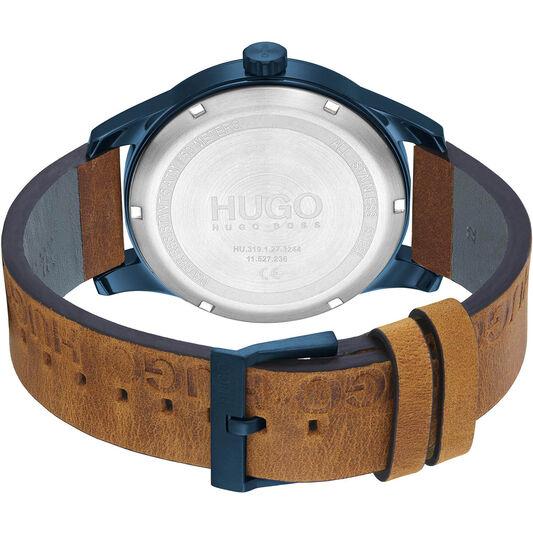 HUGO Men's #Invent Brown Leather Watch