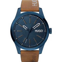 HUGO Men's #Invent Brown Leather Watch