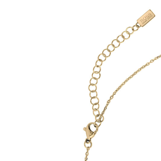 BOSS Ladies Signature Gold Plated Necklace