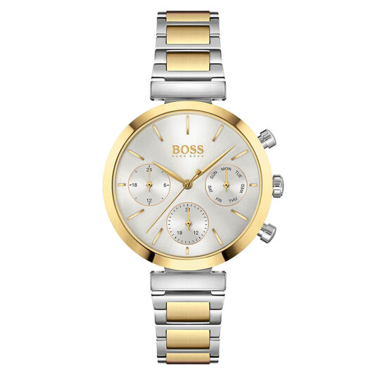 BOSS Ladies Flawless Two Tone Stainless Steel Watch