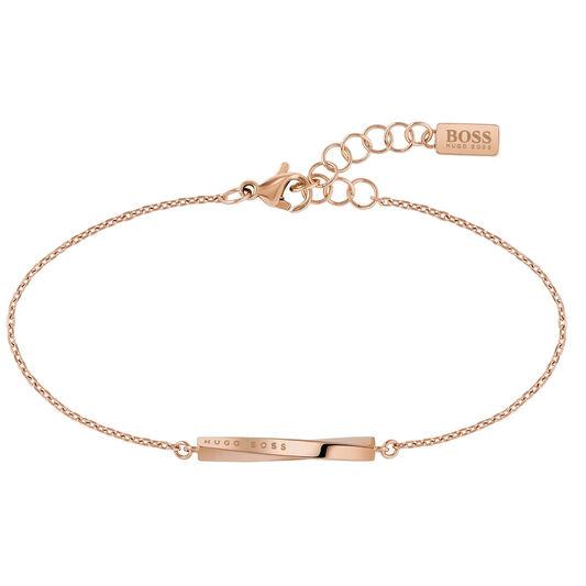 BOSS Ladies Signature Carnation Gold Bracelet
