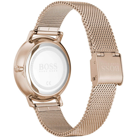 BOSS Ladies Infinity Carnation Gold Plated Watch