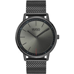 HUGO Unisex #EXIST Grey Plated Watch