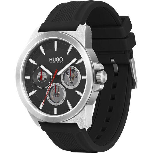 HUGO Men's #Twist Black Silicone Watch
