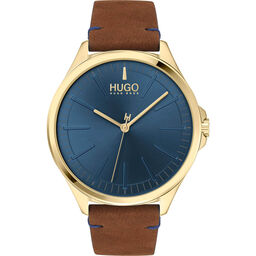 HUGO Men's #Smash Brown Leather Watch