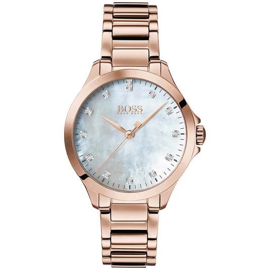BOSS Ladies Diamonds For Her Carnation Gold Steel Watch