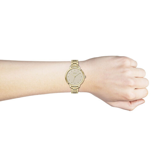 HUGO Ladies #ACHIEVE Gold Plated Watch