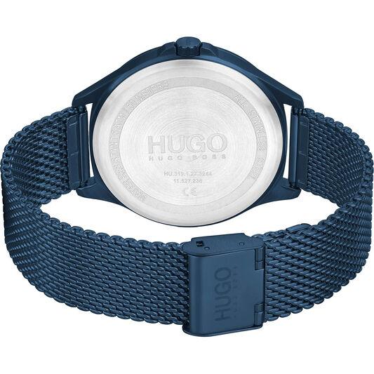 HUGO Men's #Smash Dark Blue Plated Watch