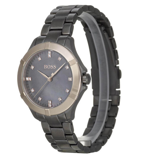 BOSS Ladies Mini Sport Grey Plated Watch