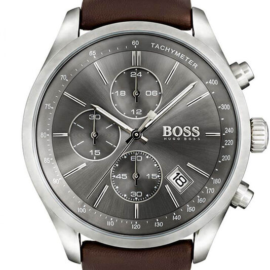 BOSS Men's Grand Prix Brown Leather Watch