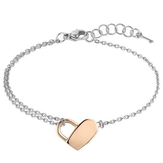 BOSS Ladies Soulmate Heart Chain Bracelet