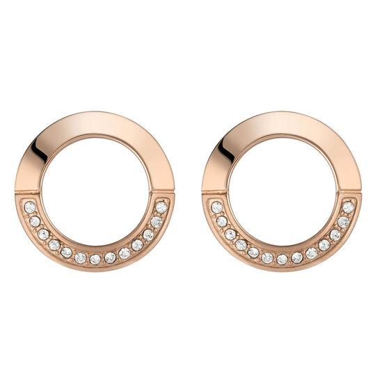 BOSS Ladies Ophelia Carnation Gold Earrings