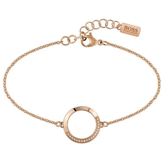 BOSS Ladies Ophelia Carnation Gold Bracelet