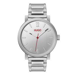 HUGO Men's #RASE Stainless Steel Watch