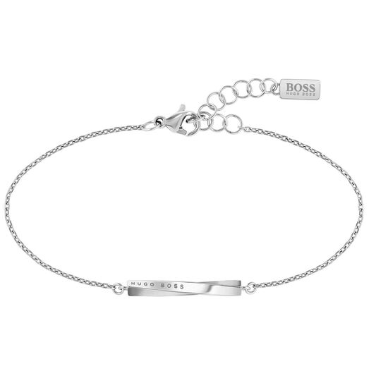BOSS Ladies Signature Stainless Steel Bracelet
