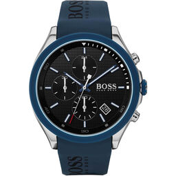 BOSS Men's Velocity Blue Silicone Watch