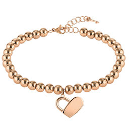 BOSS Ladies Beads Collection Carnation Gold Charm Bracelet