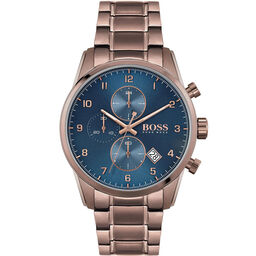 BOSS Men's Skymaster Brown Plated Watch