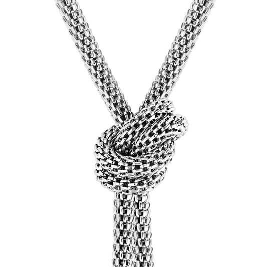 BOSS Ladies Rosette Stainless Steel Necklace