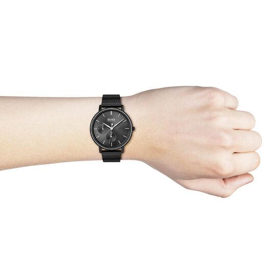 BOSS Ladies Infinity Black Plated Watch