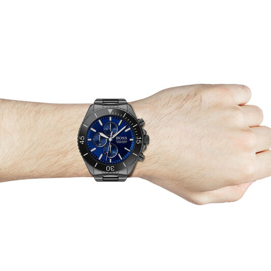 BOSS Men's Ocean Edition Black Ceramic Watch