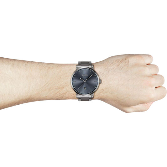 BOSS Men's Confidence Grey Plated Watch