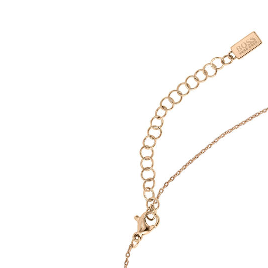 BOSS Ladies Signature Carnation Gold Plated Necklace