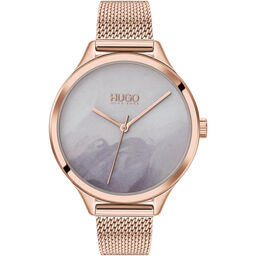 HUGO Ladies #Smash Stainless Steel Watch