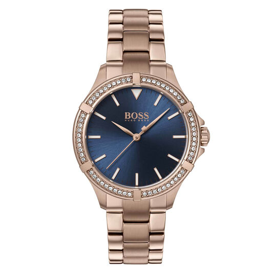 BOSS Ladies Mini Sport Carnation Gold Plated Watch