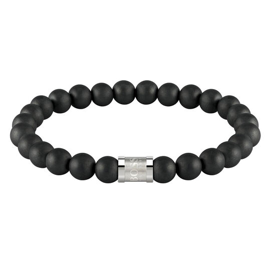 BOSS Men's Beads For Him Onyx Bracelet